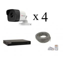 Комплект IP HiWatch 1080p уличный на 4 камеры