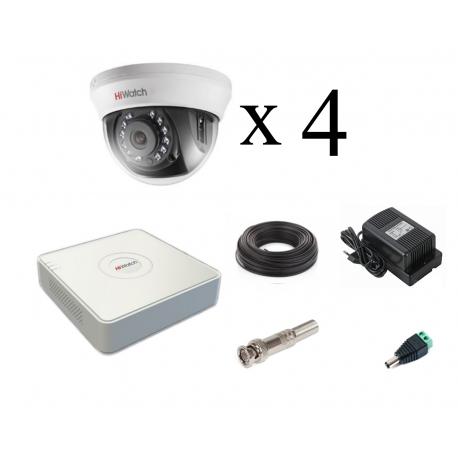 Комплект HiWatch 1080p для помещений на 4 камеры