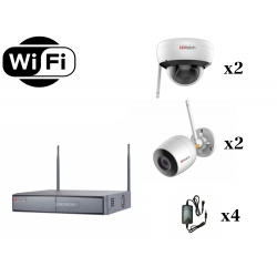 HiWatch WiFi 1080p на 4 камеры