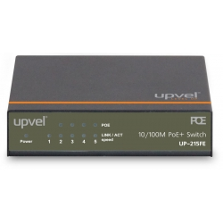 UPVEL UP-215FE, Коммутатор 5 портовый, 4 порта POE