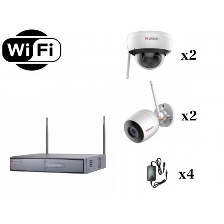 В комплекте используются IP камеры HiWatch DS-I200 с разрешением 1920×1080 (2мп). Комплект является передовым решением в система