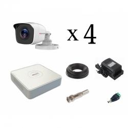 HiWatch (2MP) уличный на 4 камеры