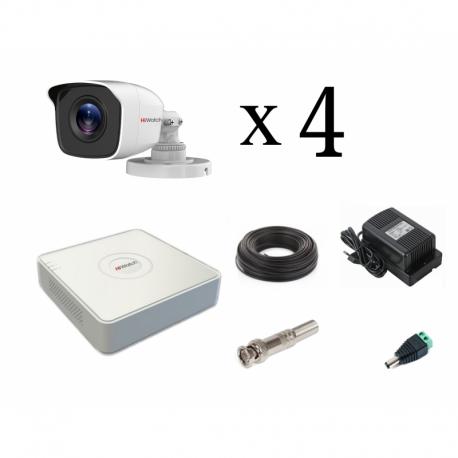 Комплект HiWatch 1080p уличный на 4 камерыы