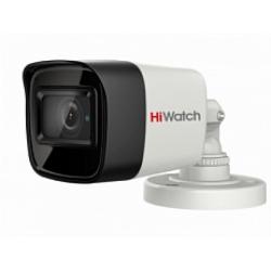 HiWatch DS-T800 - 8 Мп уличная цилиндрическая HD-TVI камера с EXIR-подсветкой до 30м