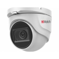 HiWatch DS-T203A - 2 Мп купольная HD-TVI видеокамера с EXIR-подсветкой до 30 м и микрофоном