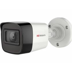HiWatch DS-T500A - 5Мп уличная цилиндрическая HD-TVI камера с EXIR-подсветкой до 30м и встроенным ми