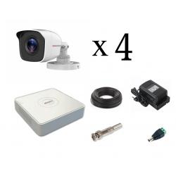 HiWatch (1MP) уличный на 4 камеры